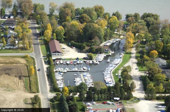 Cooks Bay Marina aerial view